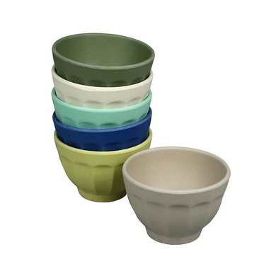 Zuperzozial Bamboe bowls set van 6 breeze