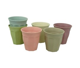 Zuperzozial Bamboo cup set of 6 breeze dawn
