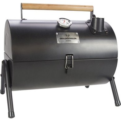 Gusta Gusta Barbecue en roker 2-in-1  zwart
