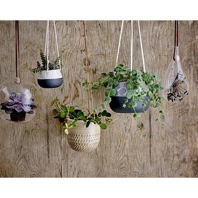 Bloomingville Hang flowerpot grey