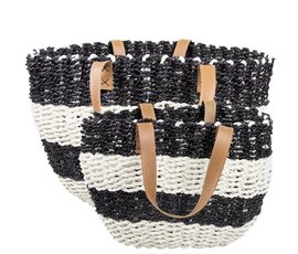 Bastion Collection Beach bag black and white