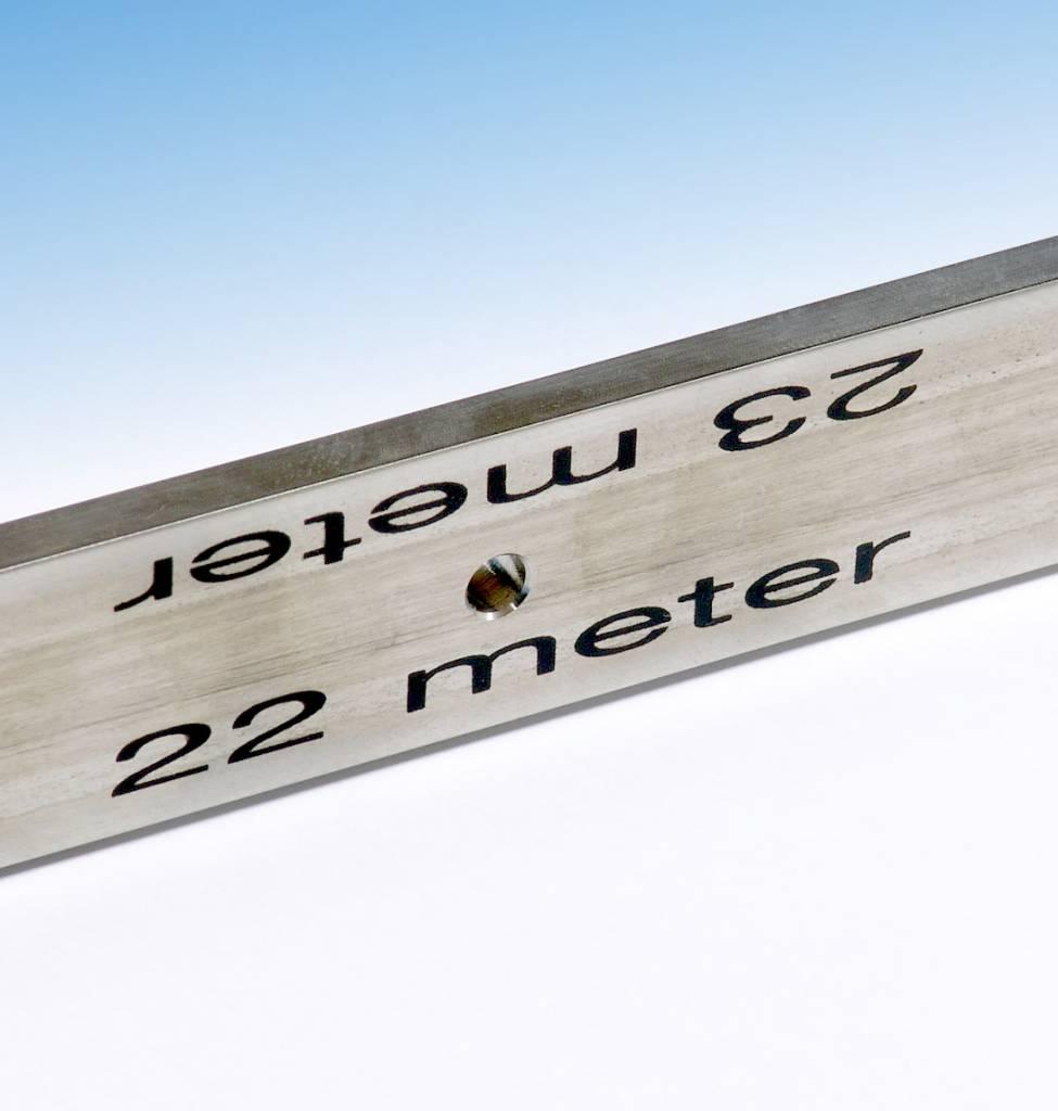 Finn BV Stainless Steel Curve Gauge radius 22/23 meter