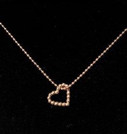 Kugelkette Herz 925 Silber vergoldet