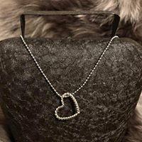 Kugelkette 925 Silber Herz
