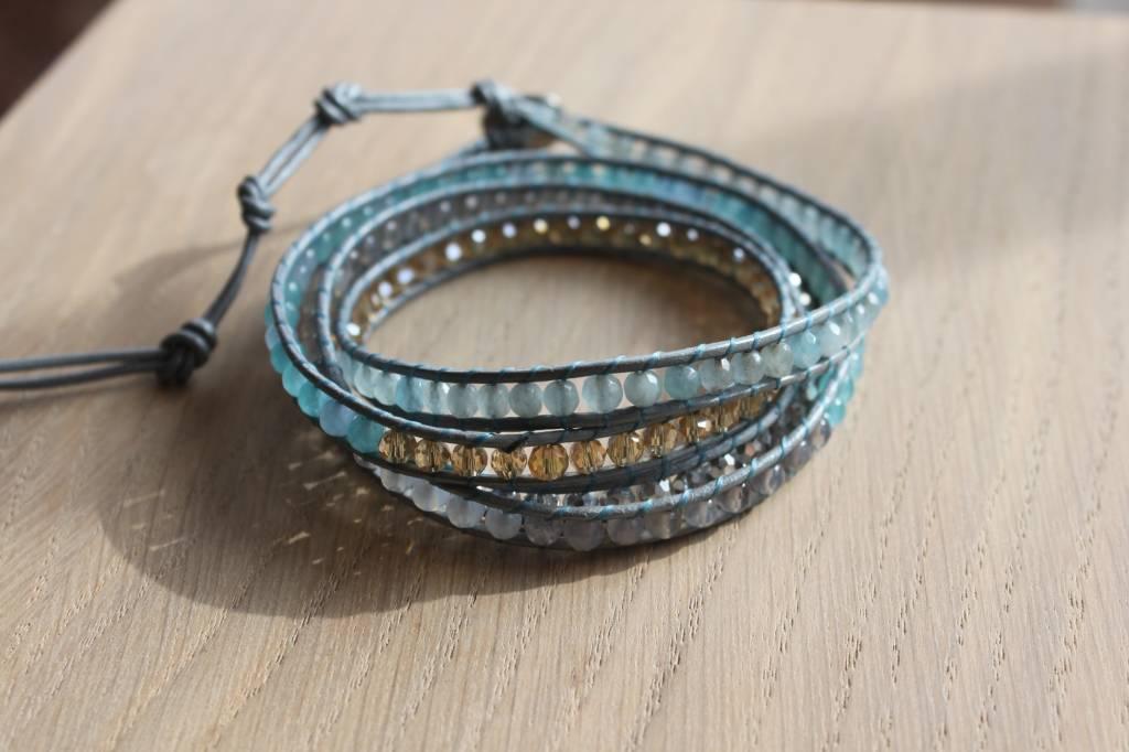 "Wickelarmband ""blue"""