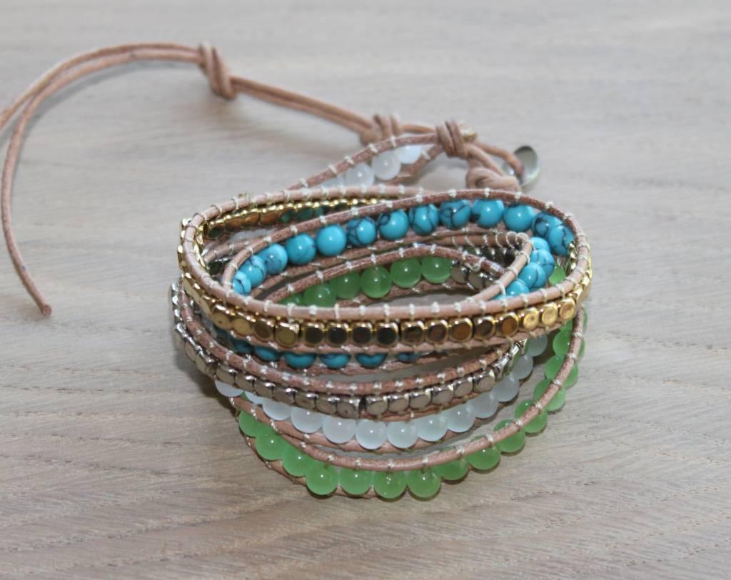 "Wickelarmband ""three colour"""