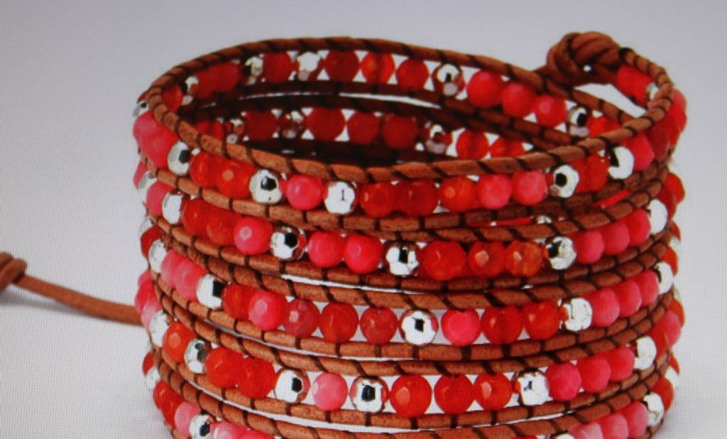 "Wickelarmband ""red tone"""