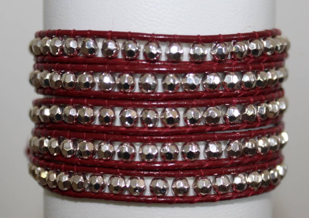 "Wickelarmband ""red leather"""