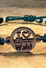 I ❤️ bayerischer Wald - Armband