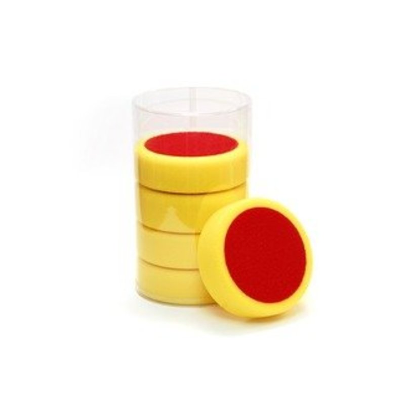 Personal Car Care Poetspad 150x50mm geel hard pak a 5 stuks