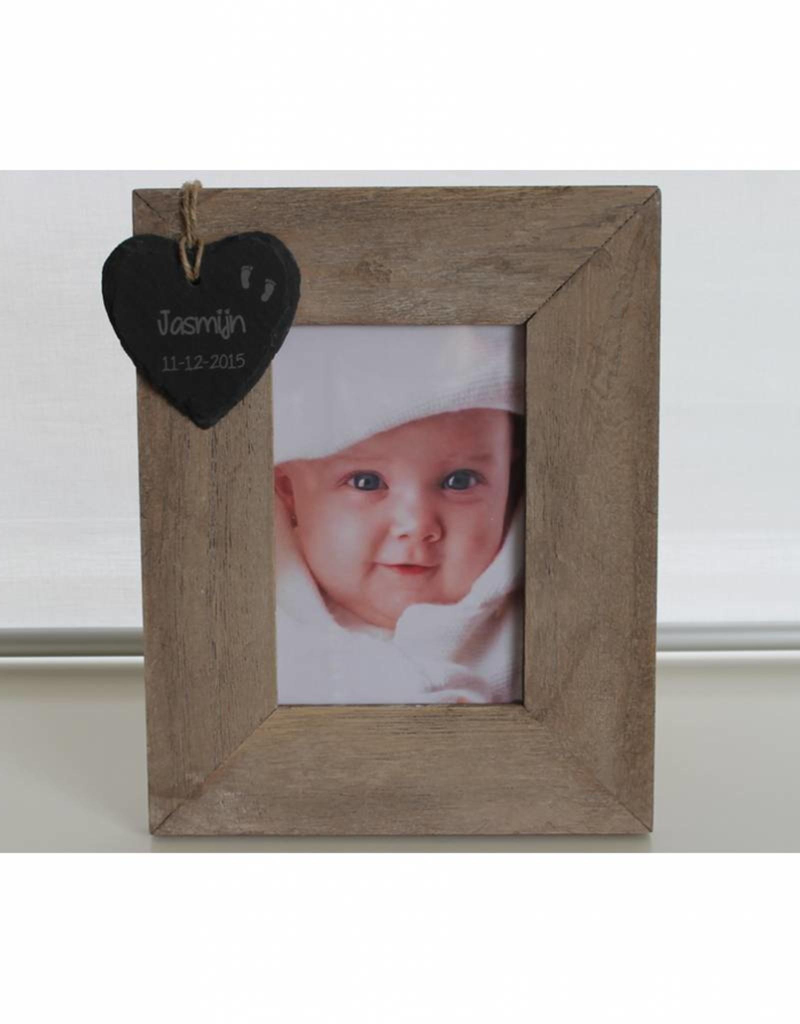 Geboorte-lijst met leistenen hartje