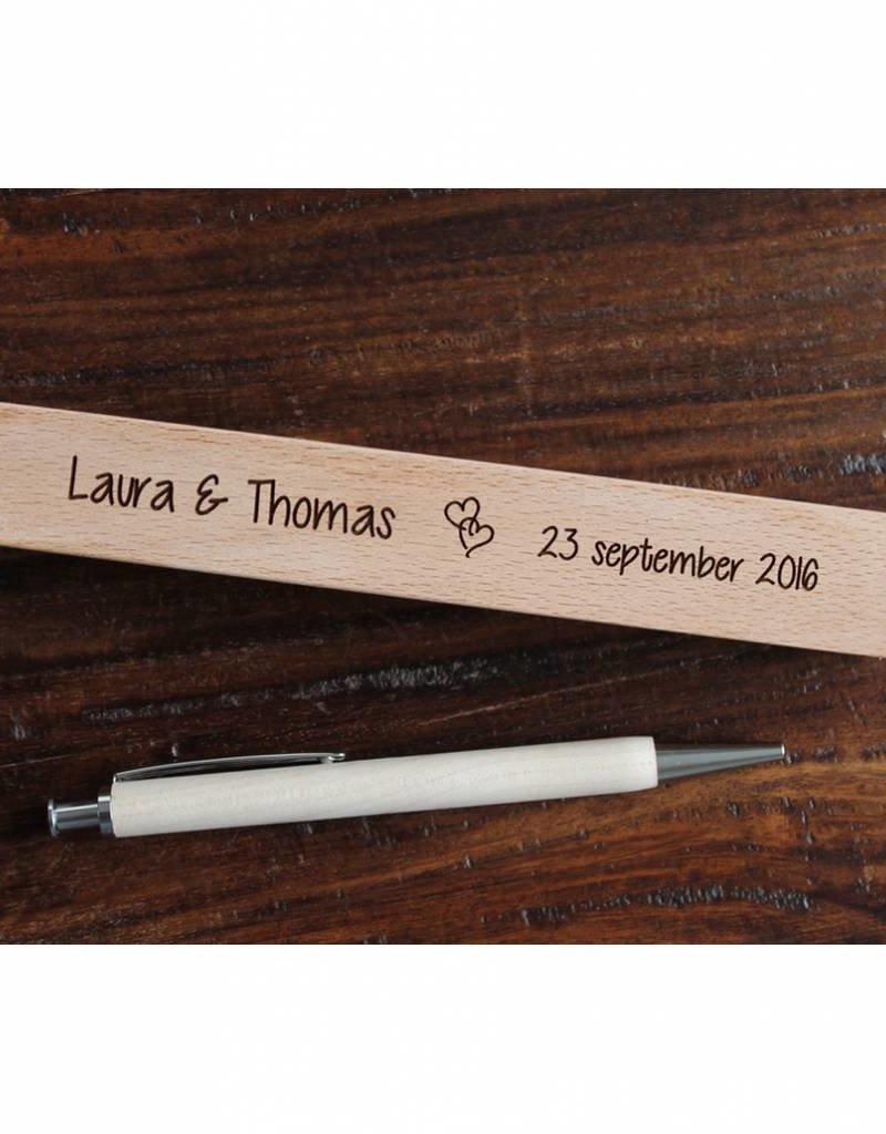 Houten pennen doos voor trouwen