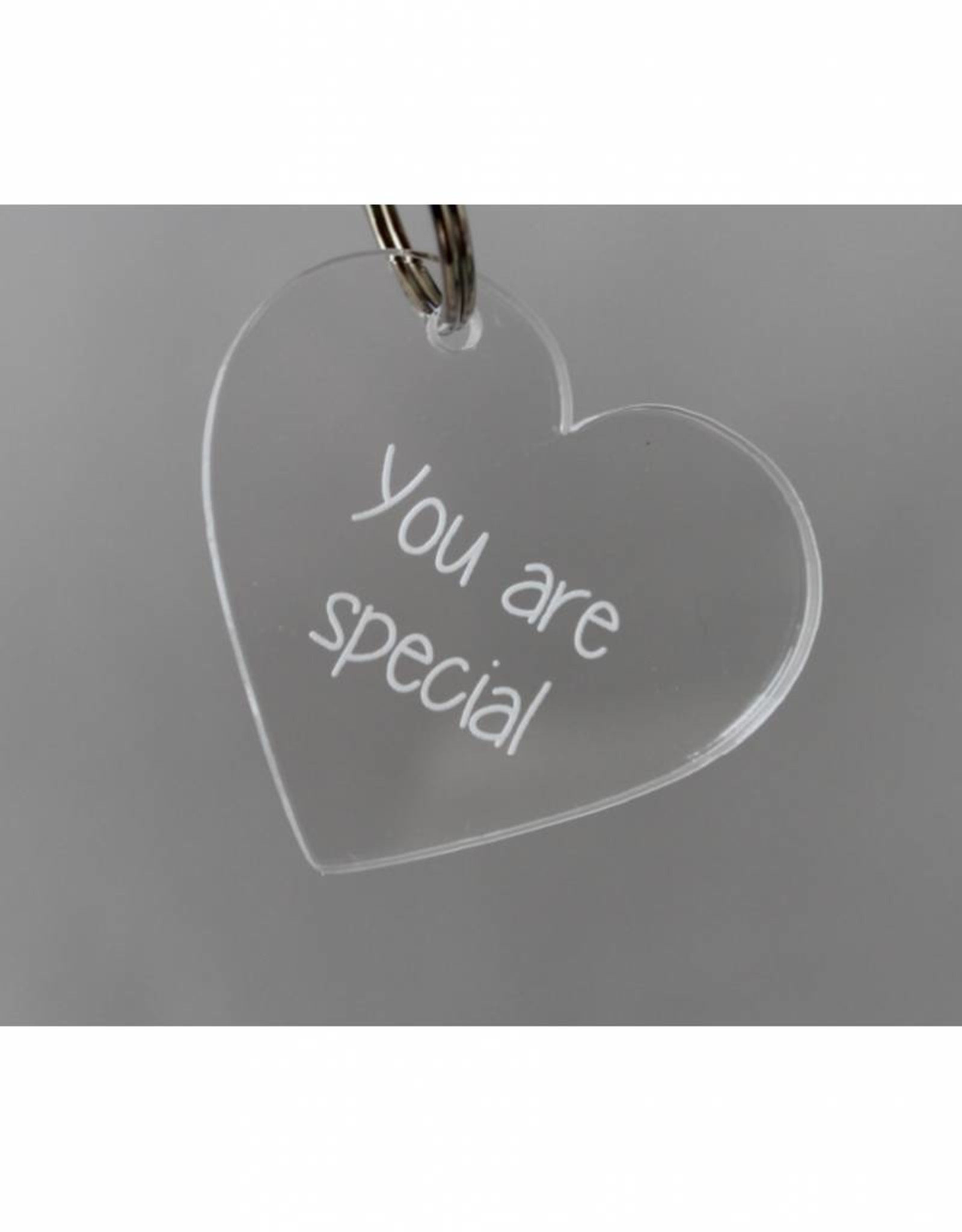 """Sleutelhanger hartje """"You are special"""""""