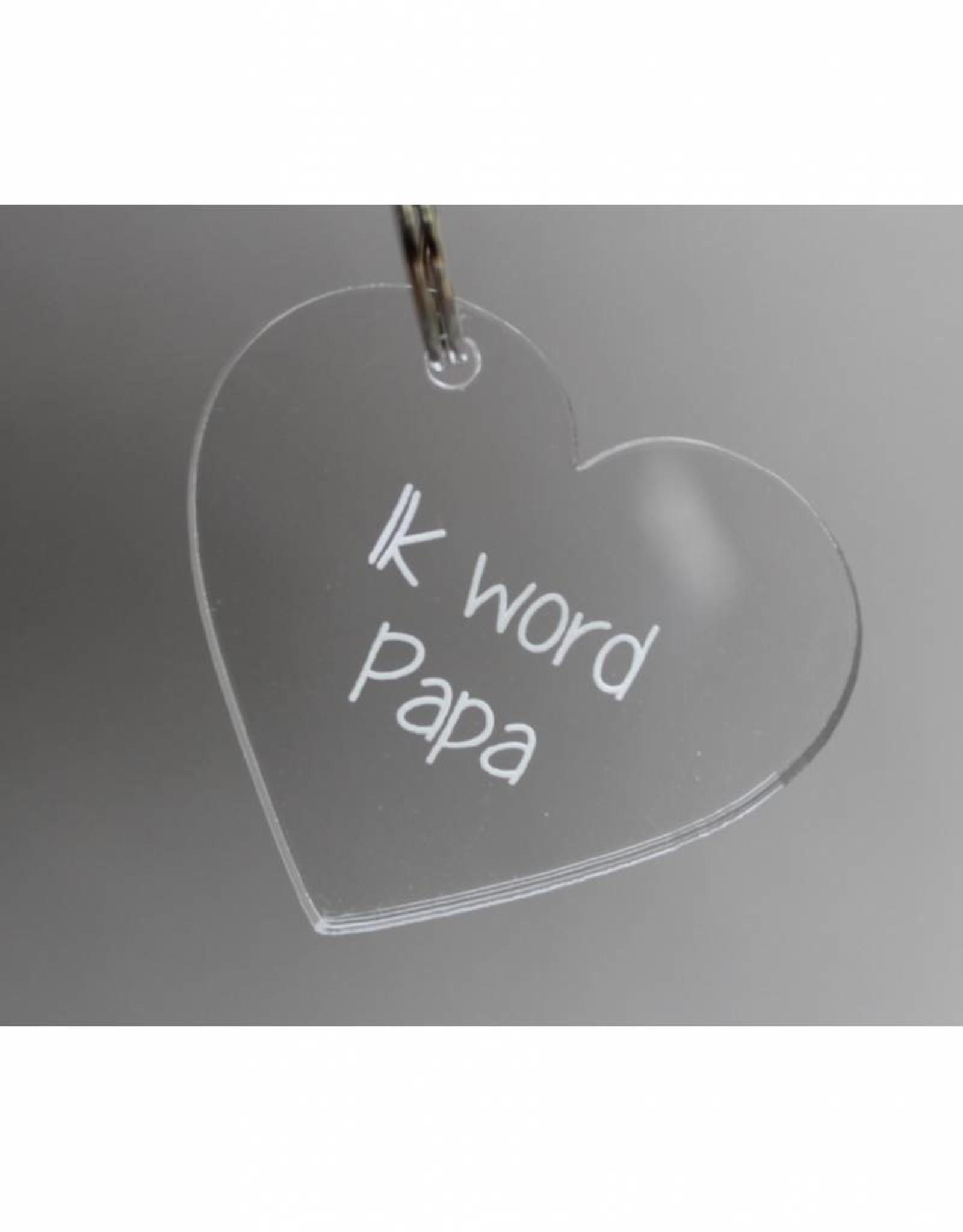 "Sleutelhanger hartje ""Ik word Papa"""