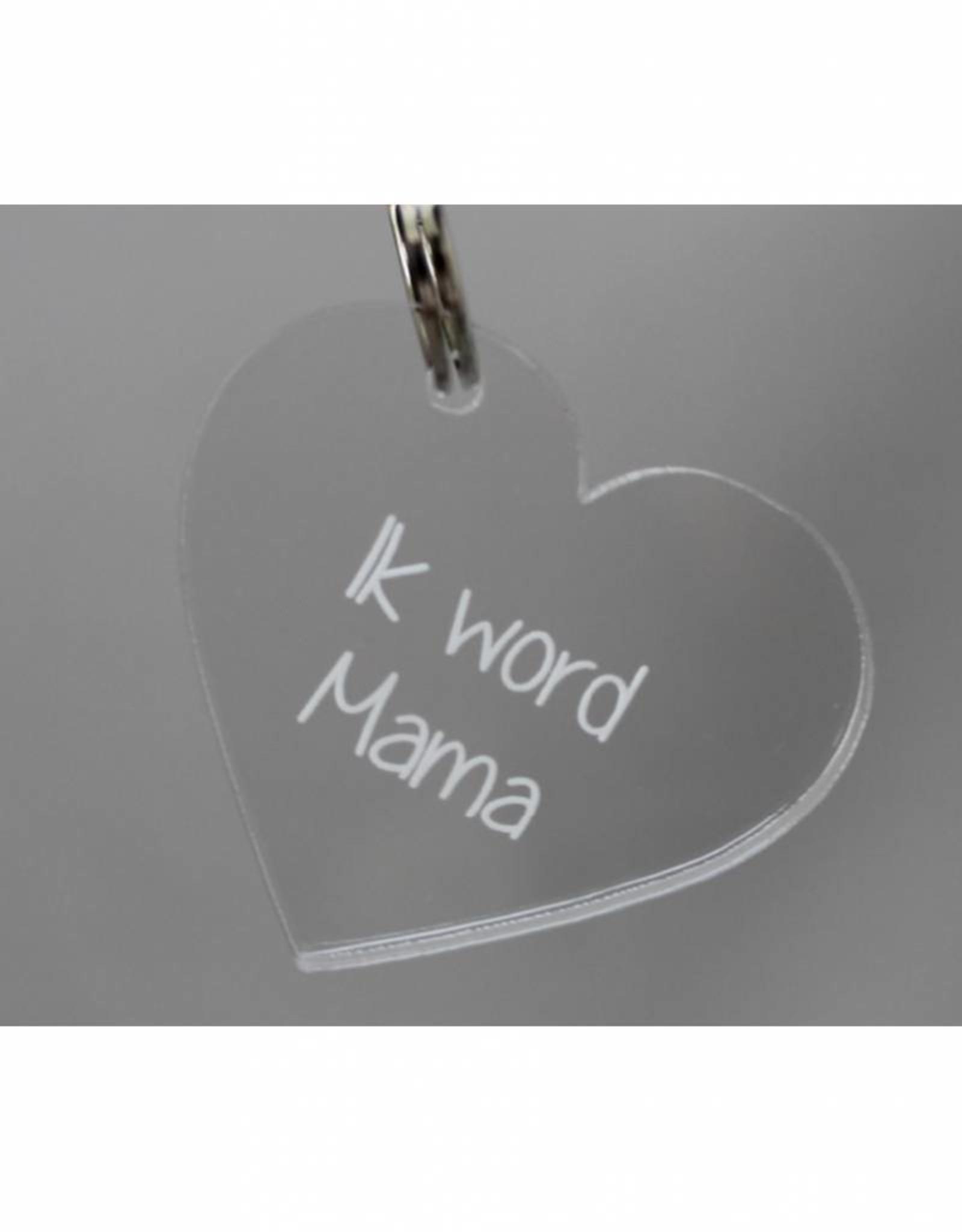 "Sleutelhanger hartje ""Ik word Mama"""