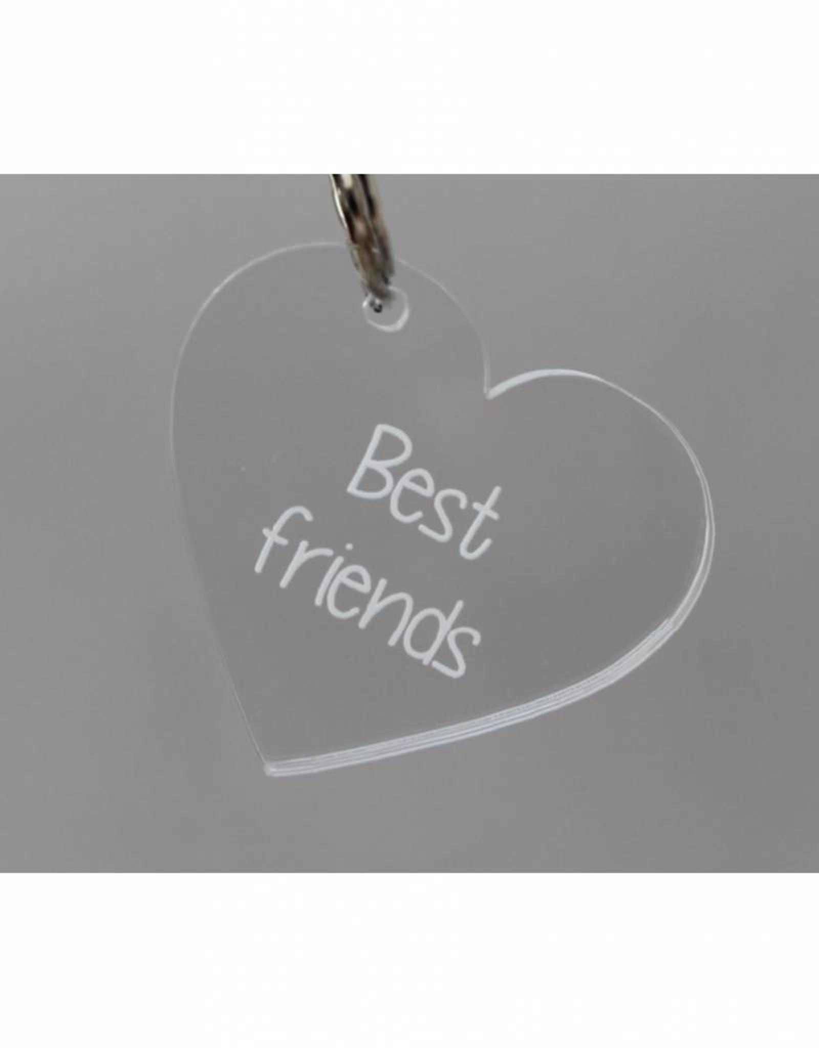 """Sleutelhanger hartje """"Best friends"""""""