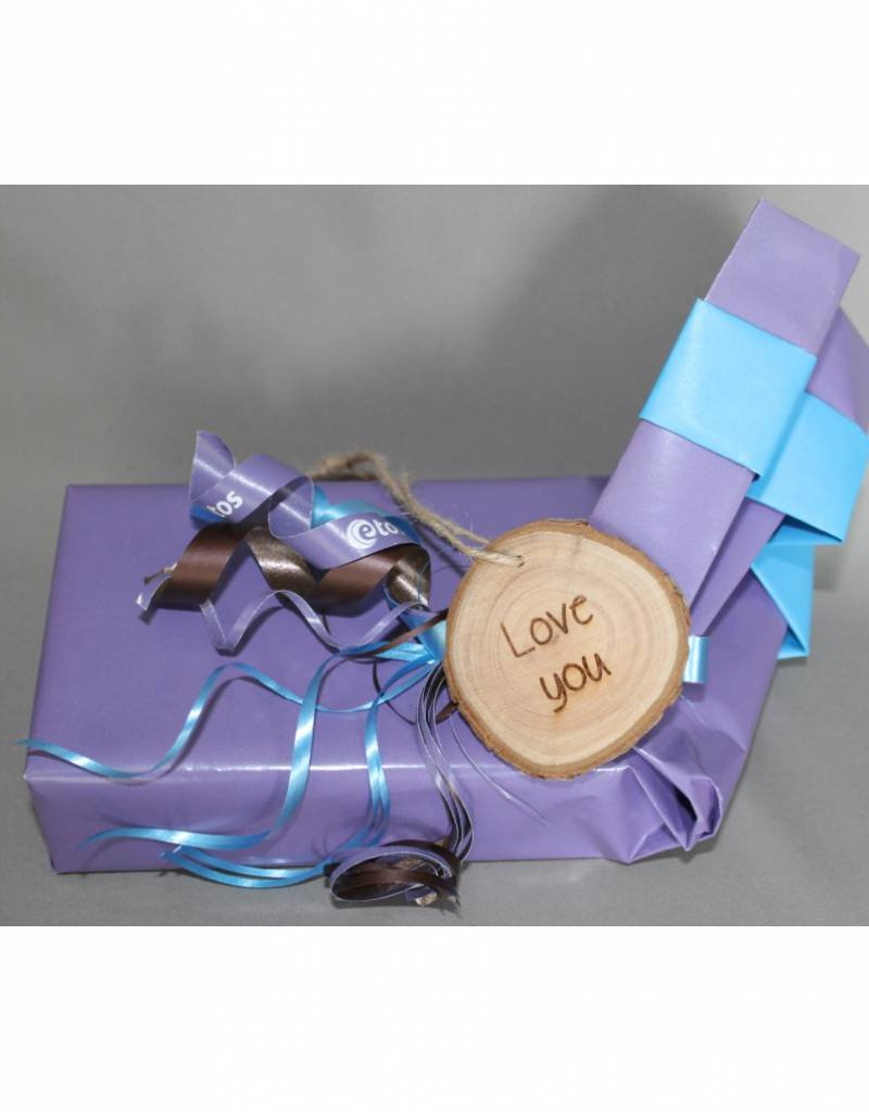 "Houten cadeau-label - ""Love you"""