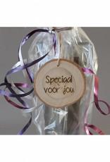 """Houten cadeau-label - """"Speciaal voor jou"""""""