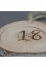 """Houten cadeau-label - """"18"""""""