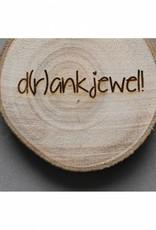 """Houten cadeau-label - """"D(r)ankjewe!l"""""""