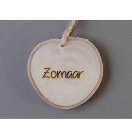 """Houten cadeau-label - """"Zomaar"""""""