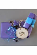 "Houten cadeau-label - ""Ik hou van je"""