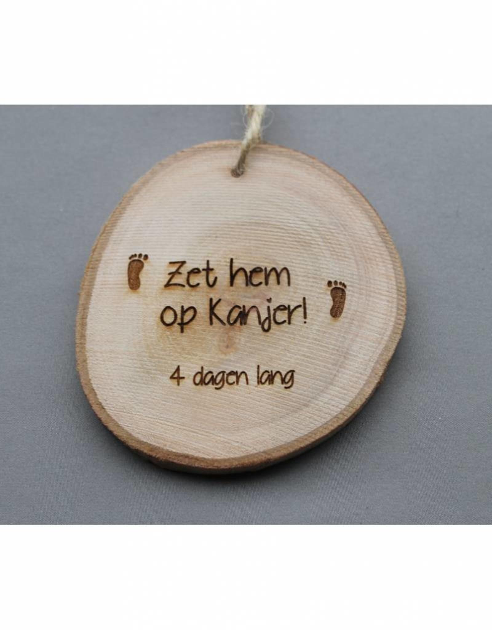 "Houten cadeau-label - ""Vierdaagse"""