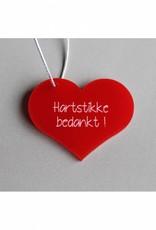 """Cadeau-label Hart - """"Hartstikke bedankt"""""""
