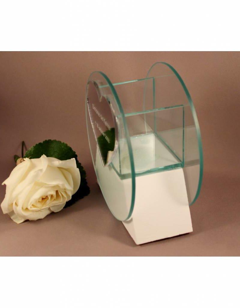 Waxinelichthouder glas