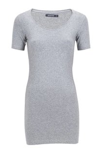 Moscow U-Neck Short Sleeve Long - Grey