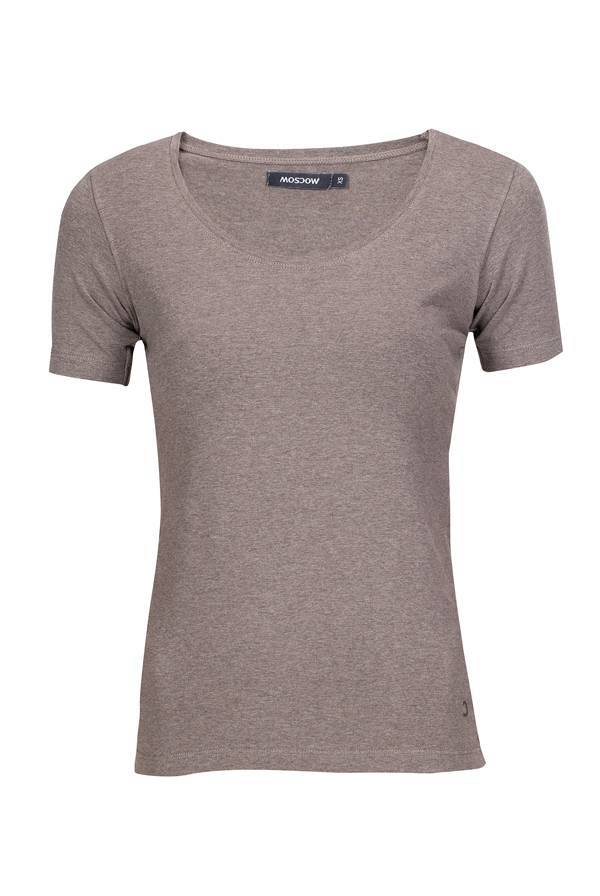 Moscow U-Neck Short Sleeve - Taupe