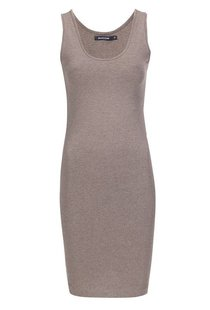 Moscow Singlet U-Neck Long - Taupe