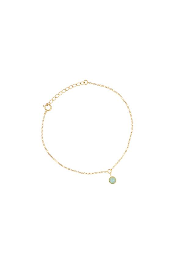 All The Luck In The World Bracelet  Amazonite - Gold