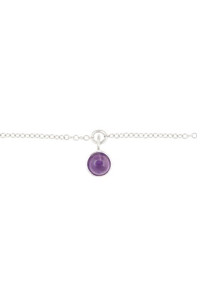 All The Luck In The World Bracelet Amethyst - Silver