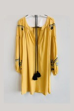 Devotion Short Dress Embroidery - Pre-Order - Yellow