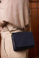 O My Bag The Audrey Mini Chain - Navy