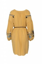 Devotion Short Dress Embroidery - Yellow
