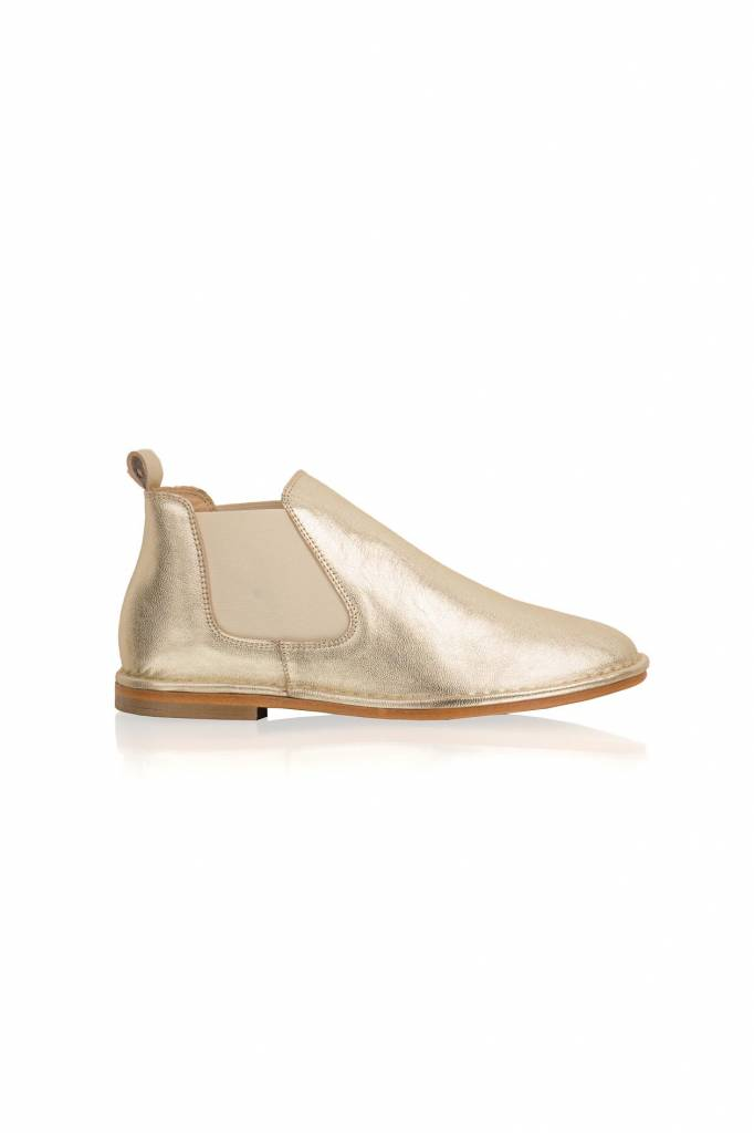 Maluo Cato Low Leather Boots - Gold