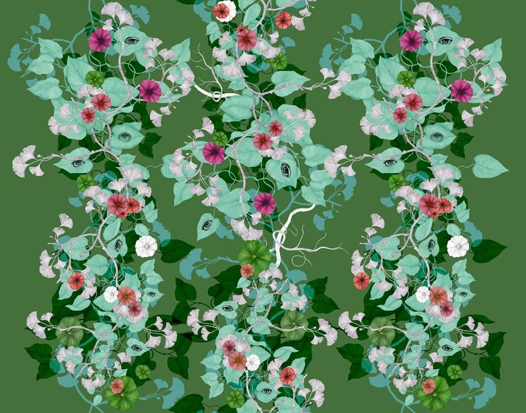 Blandat Kimono Art Deco - Green