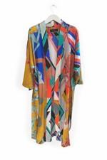 Blandat Kimono Spirograph - Moutarde