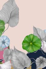 Blandat Scarf Art Deco - Blush