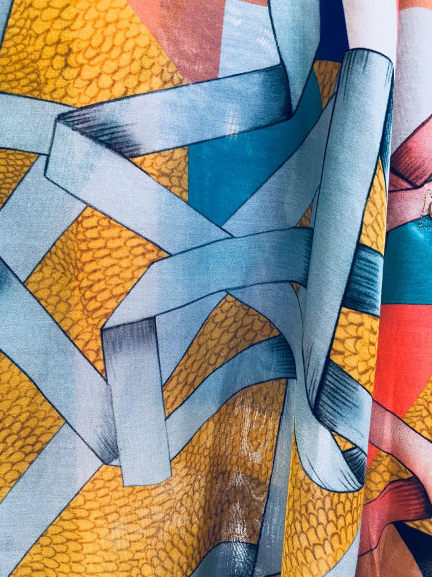 Blandat Scarf Spirograph - Moutarde