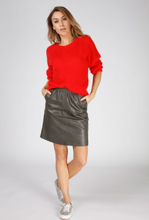 Moscow Skirt Soft Leather - Green