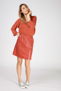 Moscow Skirt Soft Leather - Red