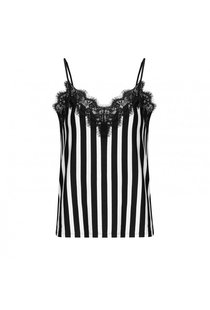 Notes du Nord Dallas Slip Top Noir Stripe - Black