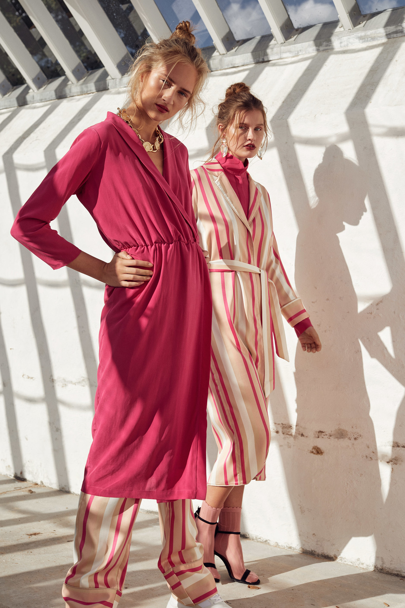 Notes du Nord Liv Dress - Berry Stripe
