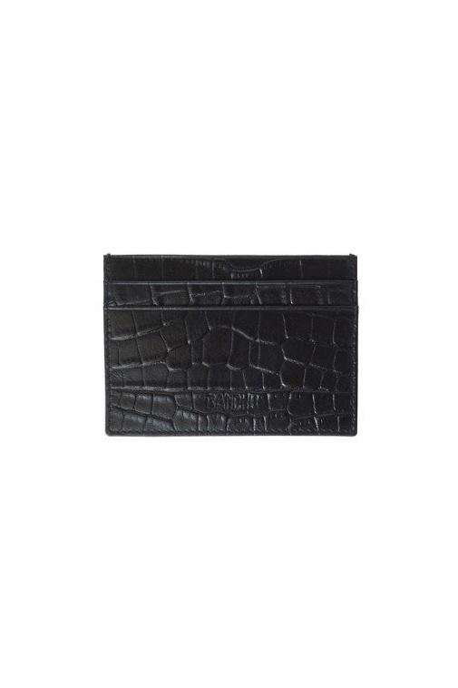 Bandhu Cardholder Fine Croco - Black