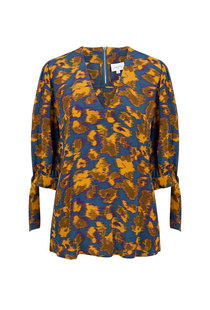 Dante6 Ziria print top - Honey Gold