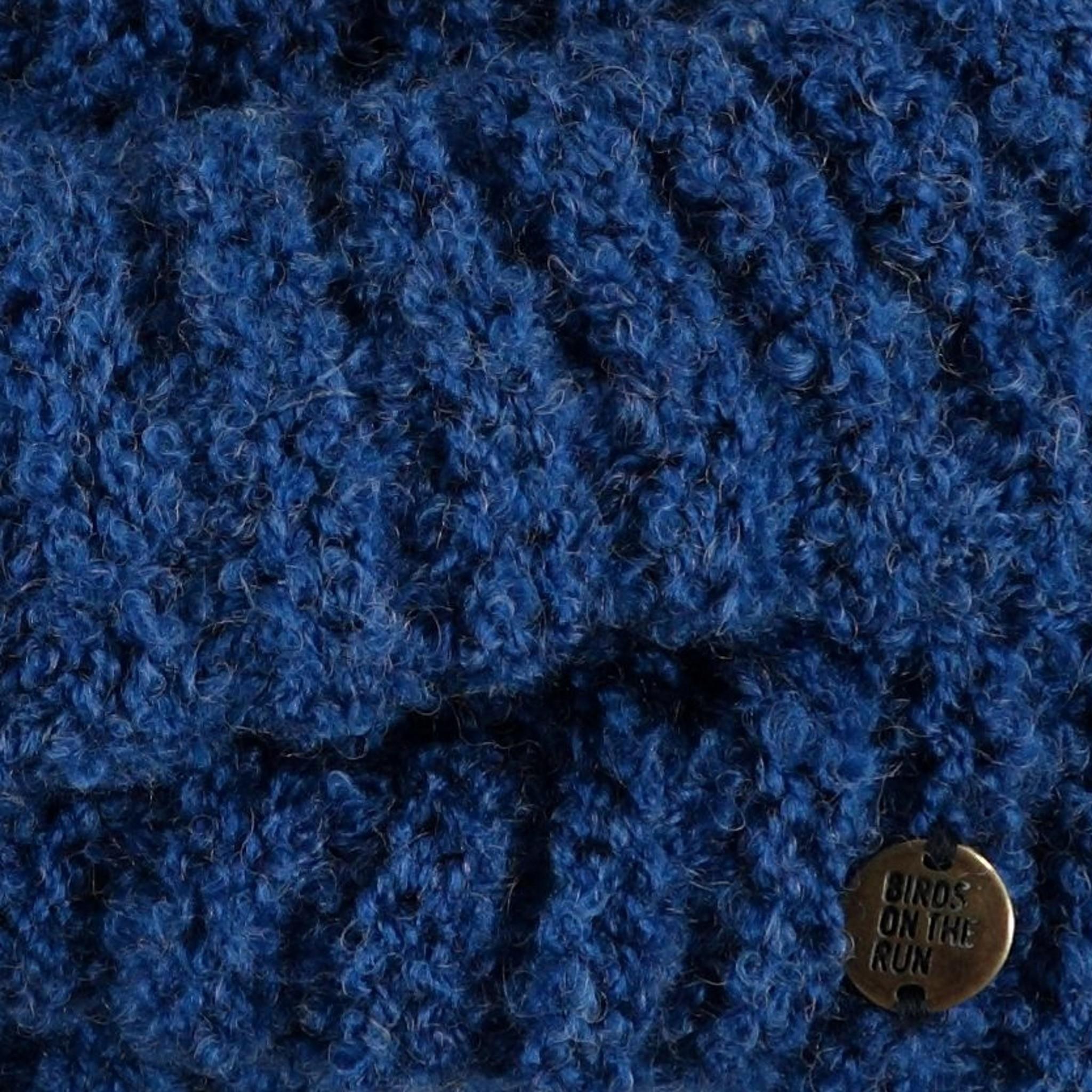 Birds on the Run Knitted Headband - Blue