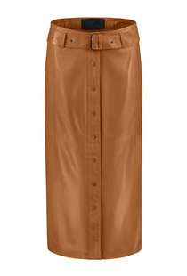 Goosecraft Charlie Skirt Leather - Cognac